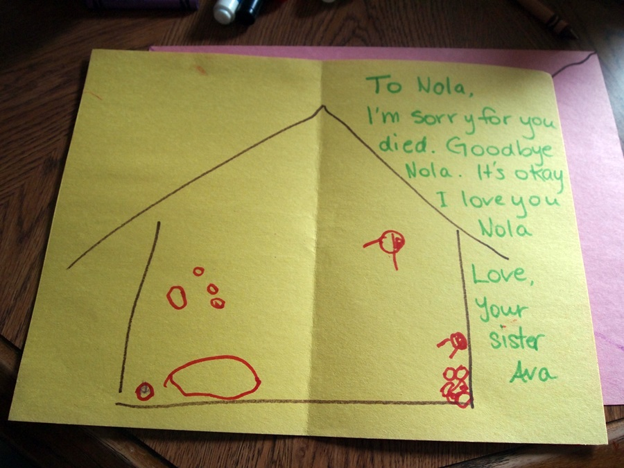 Ava's letter to Nola