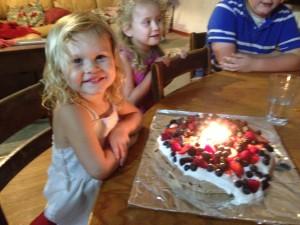 Pavlova cake with family