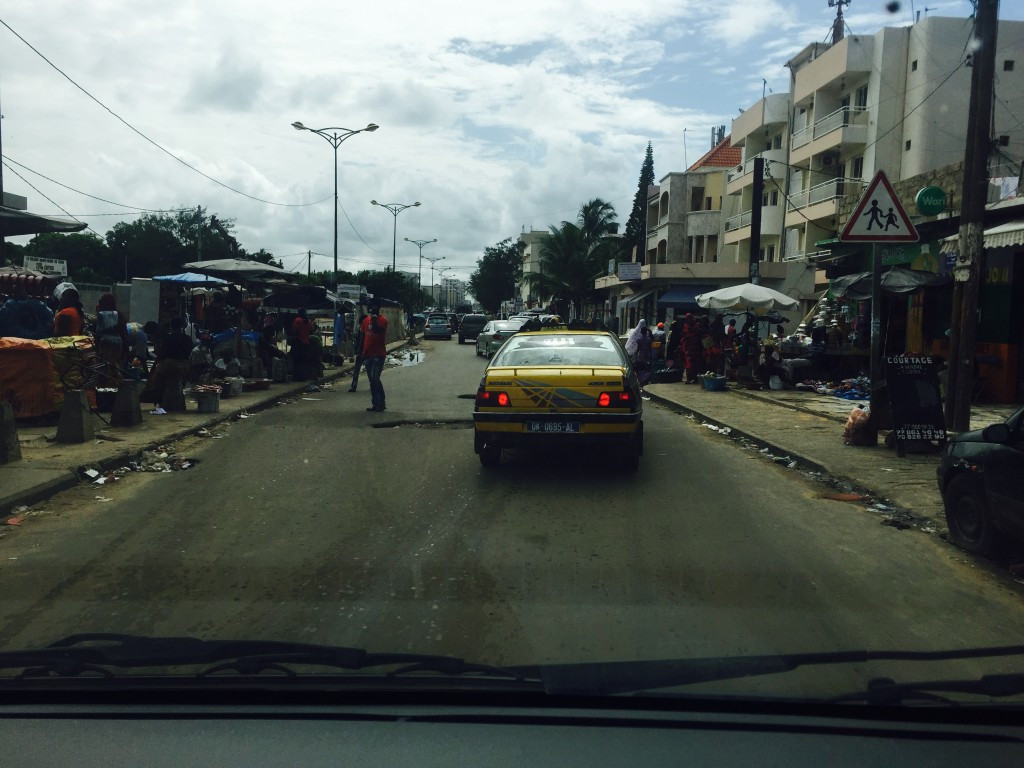 Our first trip driving through the streets of Dakar