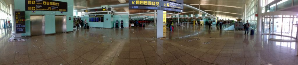 Airport was on Strike